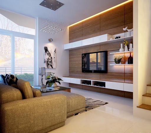 Phối hợp hài hòa màu sắc và ánh sáng cho căn phòng ngủ biệt thự mini
