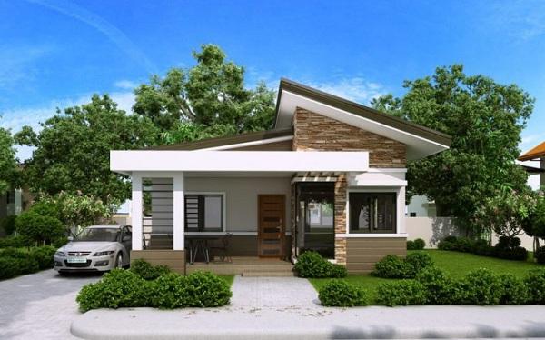 Biệt thự mini cấp 4 sân vườn phong cách hiện đại