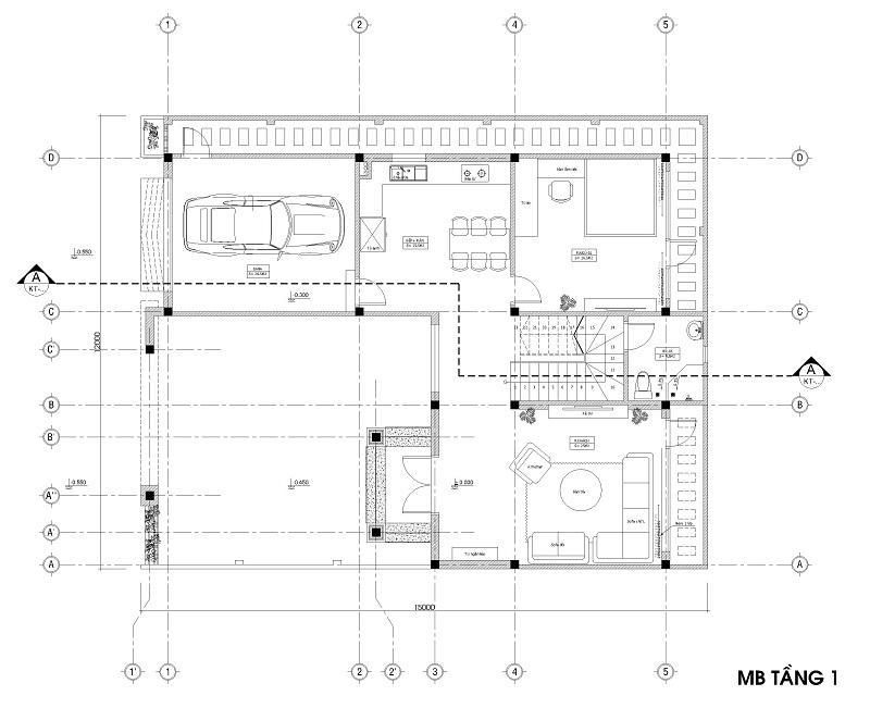 Bản vẽ thiết kế biệt thự 2 tầng