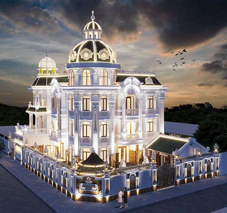 Biệt thự cổ điển phong cách Pháp
