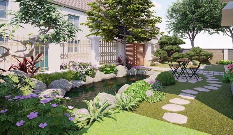 Sân vườn biệt thự có đặc điểm gì?