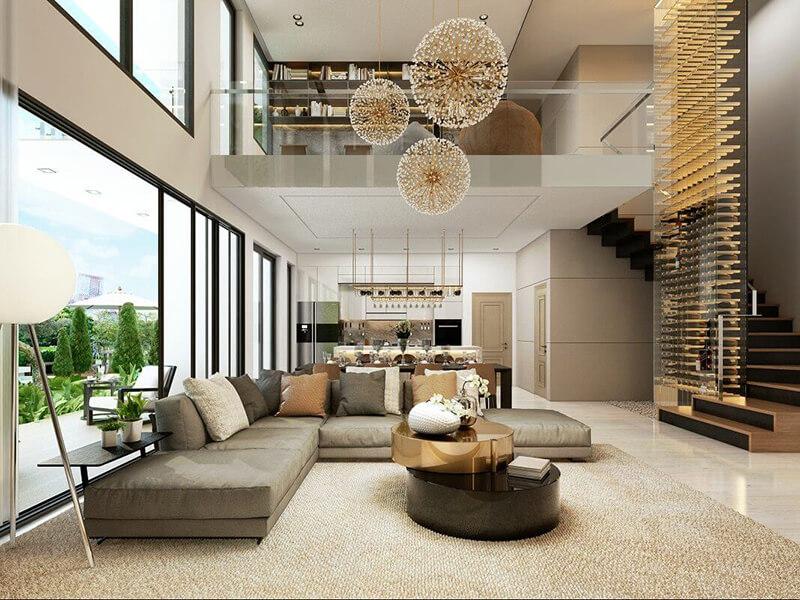Lên ý tưởng đồ nội thất cho tầng trệt